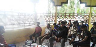 Sosialisasi pendidikan pemilih di kompleks Museum Gong Nekara Matalalang, Kelurahan Bontobangung, Kecamatan Bontoharu, Kepulauan Selayar pada Sabtu (14/11/2020).