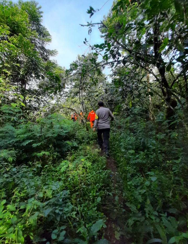 Dipimpin Kapolsek Tompobulu, tim masuk hutan melacak keberadaan Udin bin Rabbana.