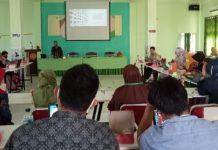 Suasana Workshop Penyusunan Modul Pembelajaran Lingkup Madrasah Aliah Ma'arif Lasepang Bantaeng, Sabtu (10/4/2021). Foto: Syahran Azis